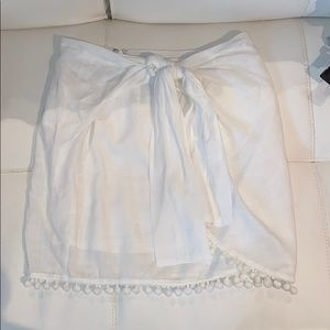 White summer skirt